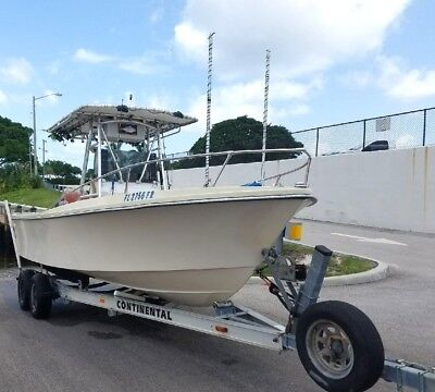 1986 Sea Ox 21 Ft Open Fisherman Center Console Fishing Boat Yamaha 150 Solid