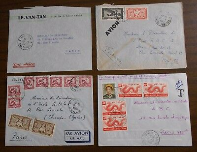 Vietnam 1950-55 official correspondence Indochina special covers