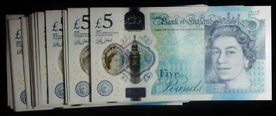 2015 5 POUND BANK OF ENGLAND Polymer BankNOTE -AK PREFIX- BRAND NEW - 1 NOTE**