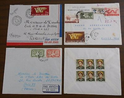 Vietnam 1950-55 official correspondence to Paris special covers