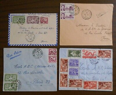 Vietnam 1950-55 official special covers from Indochina