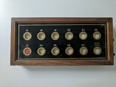Vintage Butlers / Servants Bell Indicator Box / Signal Box
