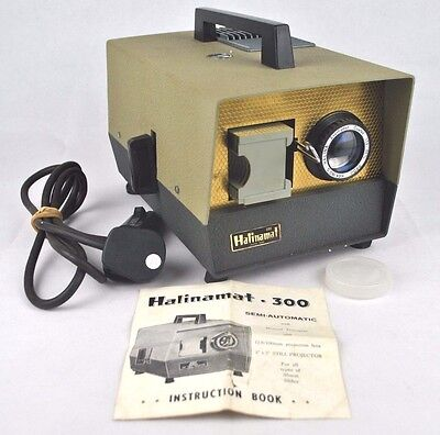 Vintage Retro Halinamat 300 35mm Slide Projector with Paximat Cartridge Tested