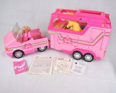 RARE Vintage 1993 Mattel Barbie Horse Trailer & Car Set Limited Release Pony BOX