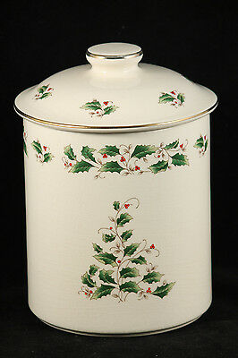 Royal Limited Holly Holiday Cookie Jar Large Collectible Decorative