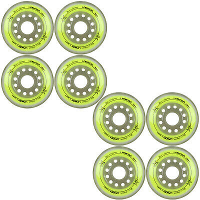 Labeda Inline Roller Hockey Skate Wheels Union Yellow 76mm SET OF 8