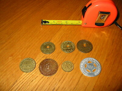 Old Vintage Trading Tokens W Beeson Covent Garden R&W Barbara F Croft Barnet Lee