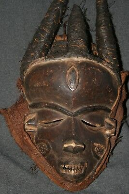 An Old Pende Mask R.d.congo