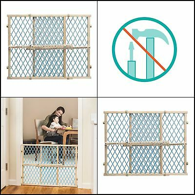 Evenflo Position And Lock Wood Baby Infant Child Dog Cat Pet Safety Gate Blue