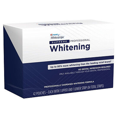 Professional Supreme Whitestrips - 5,10,15,20 pouches - Crest