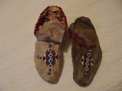 Sioux Beaded Moccasins Circa 1900.