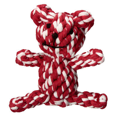 Popular Chew Knot Toy Bear Tough Strong Puppy Dog Pet Tug War Play Cotton R A7N3