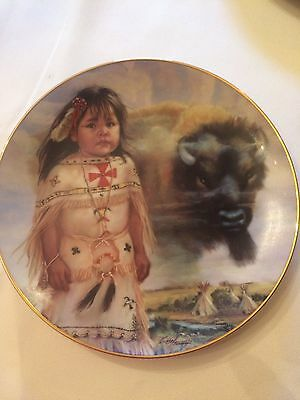 Buffalo Child By Carol Theroux Collector Plate