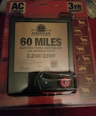 NEW American Farm Works 60 Miles Electric Fence Controller Factory Sealed