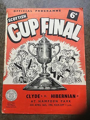 1958 Scottish Cup Final Clyde v Hibernian @ Hampden Park 26.4.1958