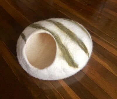 Cat Cave Cat House Bed Handmade Felted Ecological Sheep Wool