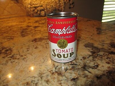 125th Anniversary Campbell's Condensed Tomoto Soup Can Bank