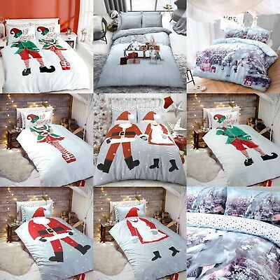 Xmas Christmas Festive Winter Special Duvet Set With Pillow Cases Bedding