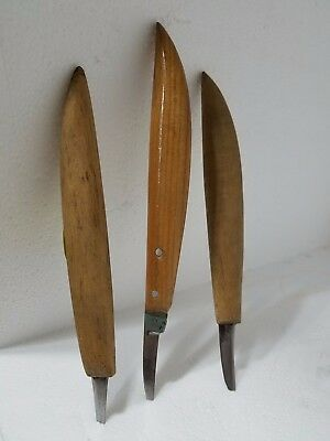 Carving Knives, Set of 3, FWB,USA, Chip Carving, Relief Carving