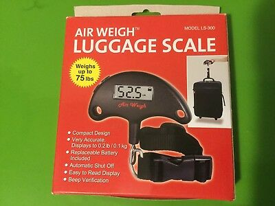 Air Weigh Luggage Scale Model LS-300 NEW