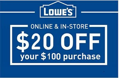 THREE (3x) Lowes $20 OFF $100 Lowe's-Coupons -EXP 10/30/17- --Fast Delivery--
