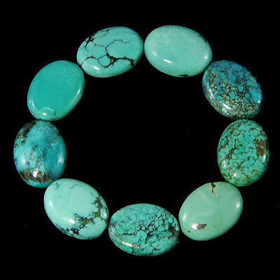 25 Pcs Wonderful Lot Natural Turquoise 6X8 Mm Oval Shape Loose Gemstone Cabochon