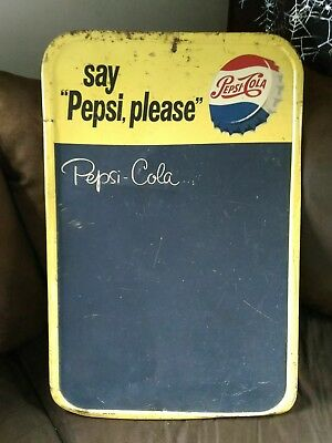 Rare Vintage ~ Say Pepsi, Please Chalkboard Menu Board 1960's? USA