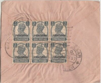Pakistan On India (1948-49) Kgvi Adhesives Used On Covers & Cards (7)