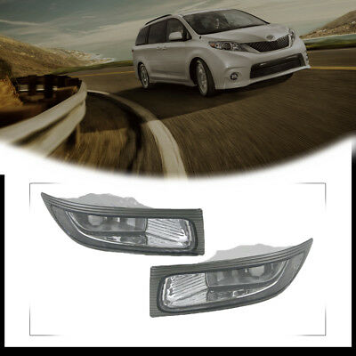 One Pair Left + Right  Front Car Fog Lamp Light for 2004 2005 TOYOTA  SIENNA