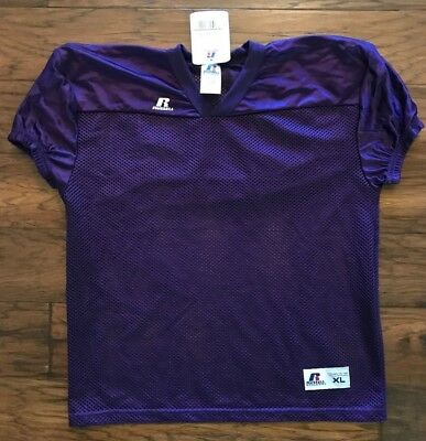 Russell Athletic Youth Practice Mesh Football Jersey VNeck Medium New Purple