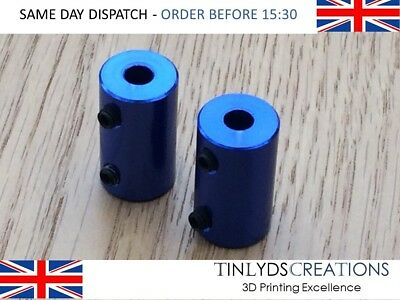2pcs 5mm To 5mm Aluminum Shaft Coupling Rigid Coupling Coupler Motor Connector