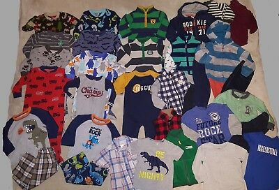 Boys 18 months Carter's clothes Fall winter outfits clothing and PJ's 36pc lot!