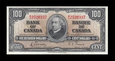 1937 BANK OF CANADA KGVI $100 **Gordon & Towers** (( aUNC/UNC ))