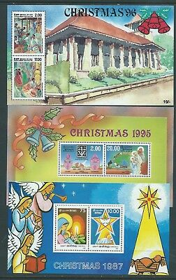 Ceylon Sri Lanka 11 Different Christmas Mnh Minisheets 4 Scans Colourful!