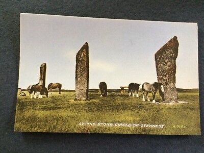 Vintage Postcard At The Stone Circle Of Stenness Orkney