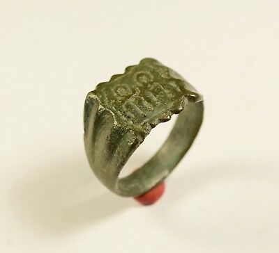 Rare Roman Bronze Legionary Ring With 2 Legioners - Wearable