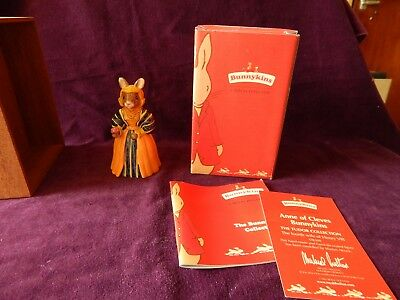 Boxed Royal Doulton Bunnykins Anne Of Cleves DB309 The Tudor Collection VGC