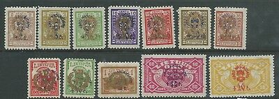 Russia Lithuania 1924 War Orphans Overprints To Mh Fresh Looking!