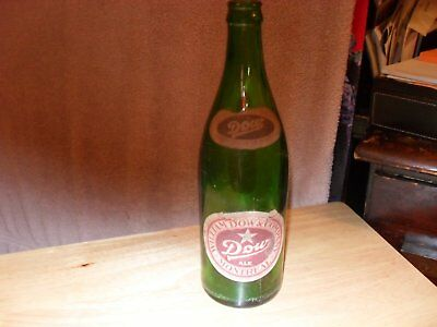 Vintage William Dow & Co. Montreal Green Quart Beer Bottle