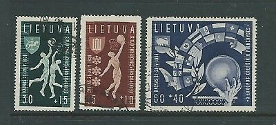 Russia Lithuania 1939 Basket Ball Championship Set Used Nice!