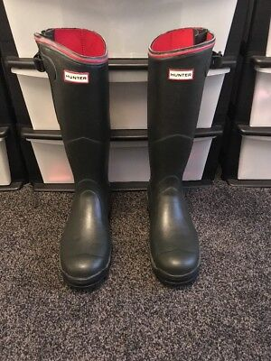 Hunter Balmoral Neo Men's Wellington Boots. Size 12 Olive Worn Once