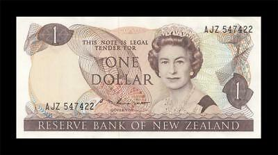 "1985-89 NEW ZEALAND 1 POUND QEII ""Sig. Russell"" (( GEM UNC ))"