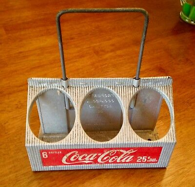 Vintage Coca-Cola Aluminum 6-bottle Caddy Carrier in Good Condition