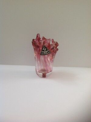 Isle Of Wight Studio Glass,Cranberry Red Lily Vase