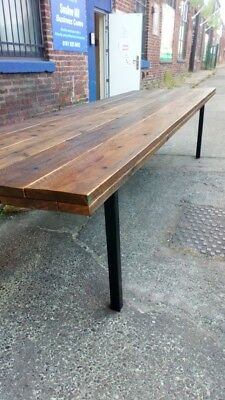 scaffolding reclaimed timber dining room table, custom sizes made to order