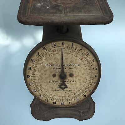 Antique Scale COLUMBIA Family Household LANDERS FRARY CLARK Vintage Gray 1907