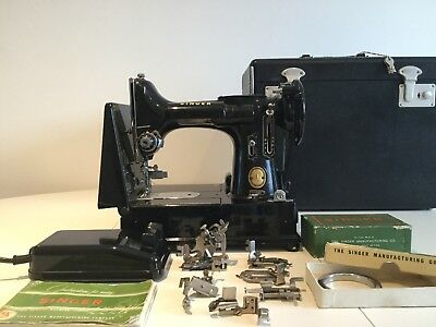 QUILTERS SINGER 222K FEATHERWEIGHT SEWING MACHINE - Working - Video