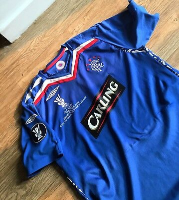 Glasgow Rangers 2008 UEFA Cup final Football shirt Large Adults Manchester