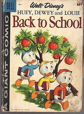 PRICED TO SELL! Huey, Dewey and Louie Back to School #1 (1958) Dell Giant