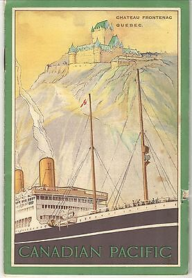 """RARE Passenger List: CANADIAN PACIFIC """"MINNEDOSA,"""" 1924 TO QUEBEC & MONTREAL"""
